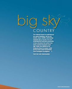 Xaus lodge Big Sky Country article
