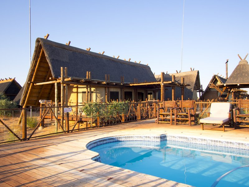 xaus lodge swimming pool and exterior
